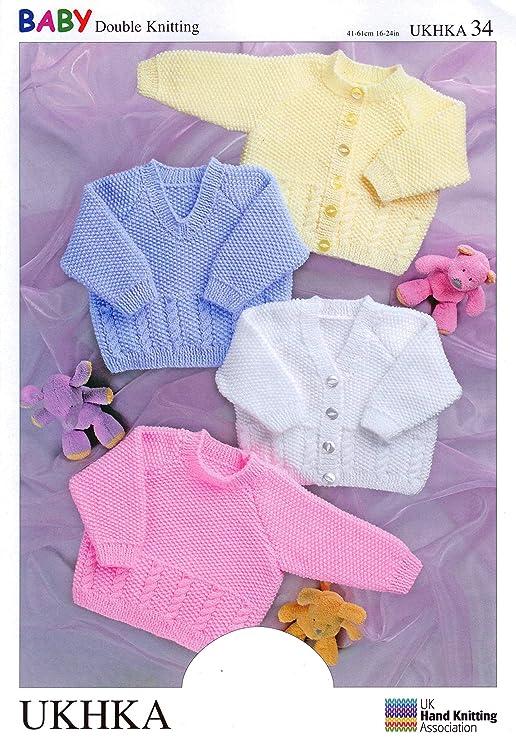 Patrones para tejer ropa de 34/folleto de bebé niño Cardgians y ...