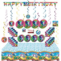 Trolls Jumbo Deluxe Birthday Party Supplies Super Bundle Pack for 16 Guests (Plus Party Planning Checklist by Mikes…