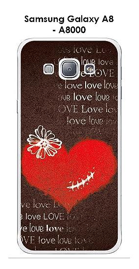 Onozo Carcasa Samsung Galaxy A8 - A8000 Design corazón ...