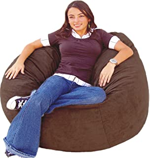 Cozy Sack 4 Feet Bean Bag Chair Large Chocolate