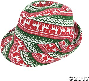 Fun Express Ugly Sweater Fedora HAT - Apparel Accessories - 1 Piece