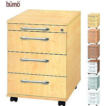 Rollcontainer Schreibtischcontainer Bürorollcontainer Tischcontainer Grau Bümö® Büro & Schreibwaren