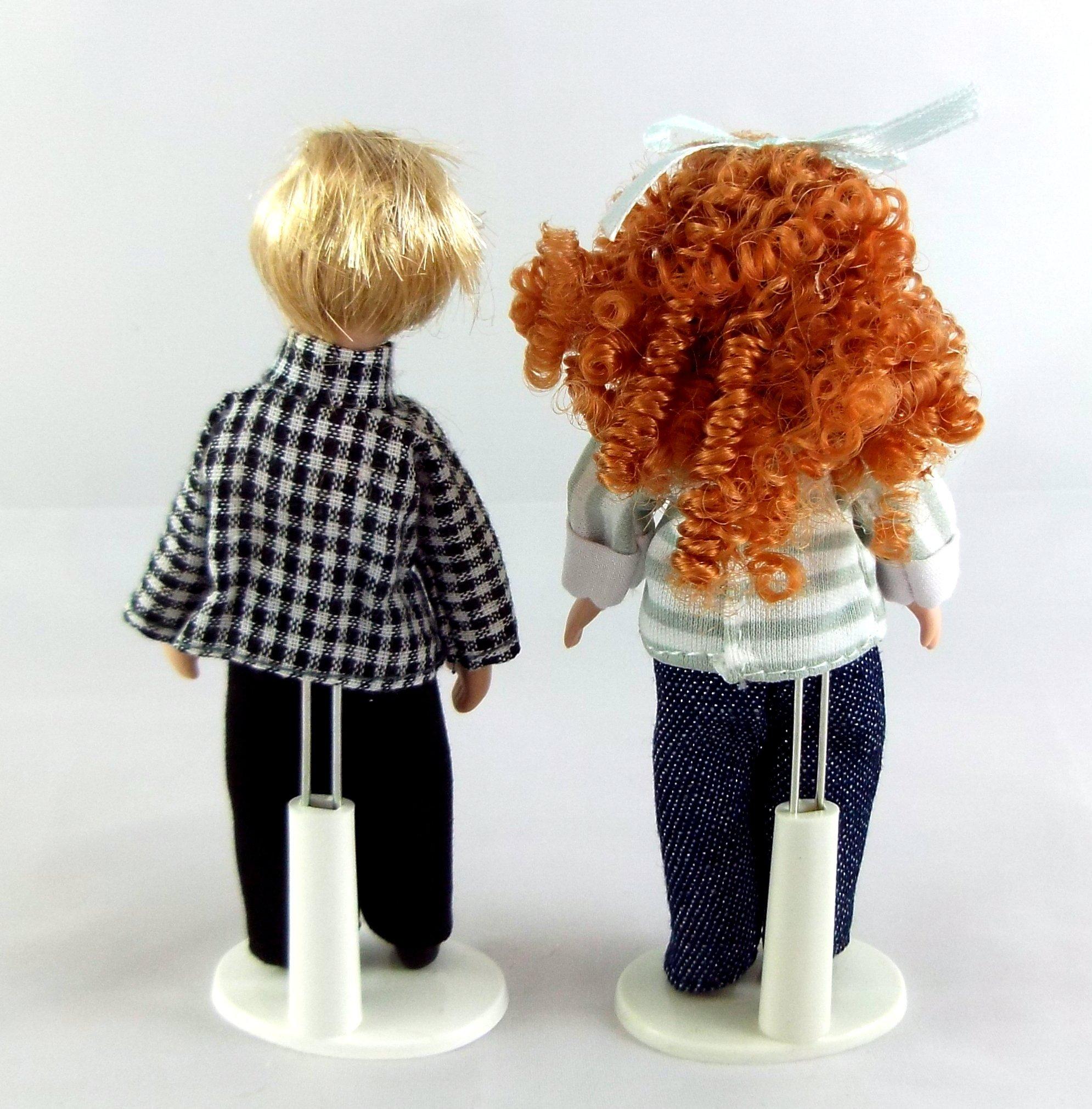 Vanity Fair Dolls House Miniature People Children Girl & Boy 311