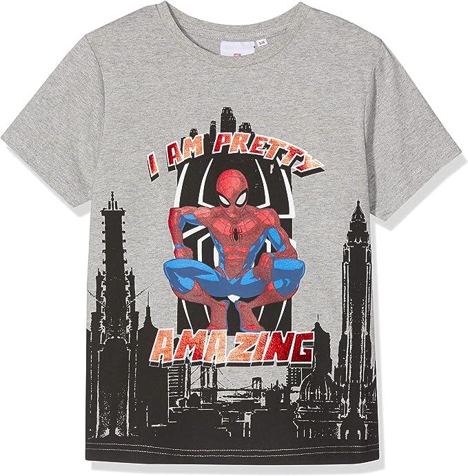 Spiderman Marvel i Am Pretty Amazing Camiseta, Gris (Grey Marl ...