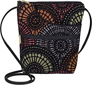 product image for Danny K. Women's Tapestry Bella Purse Crossbody Handbag, Adjustable Cord, Handmade in USA