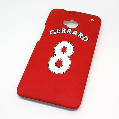 Liverpool FC Gerrard de camiseta de fútbol carcasa Rígida para HTC One M7 - de la