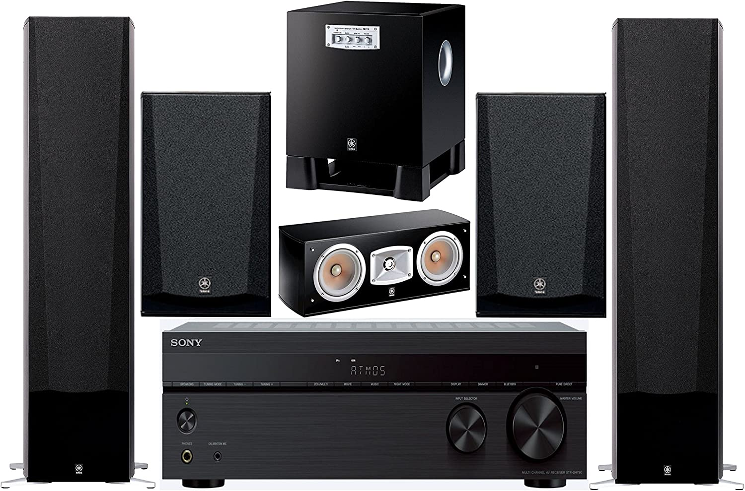 Sony 7.2-Channel Wireless Bluetooth 4K 3D A/V Surround Sound Multimedia Home Theater System