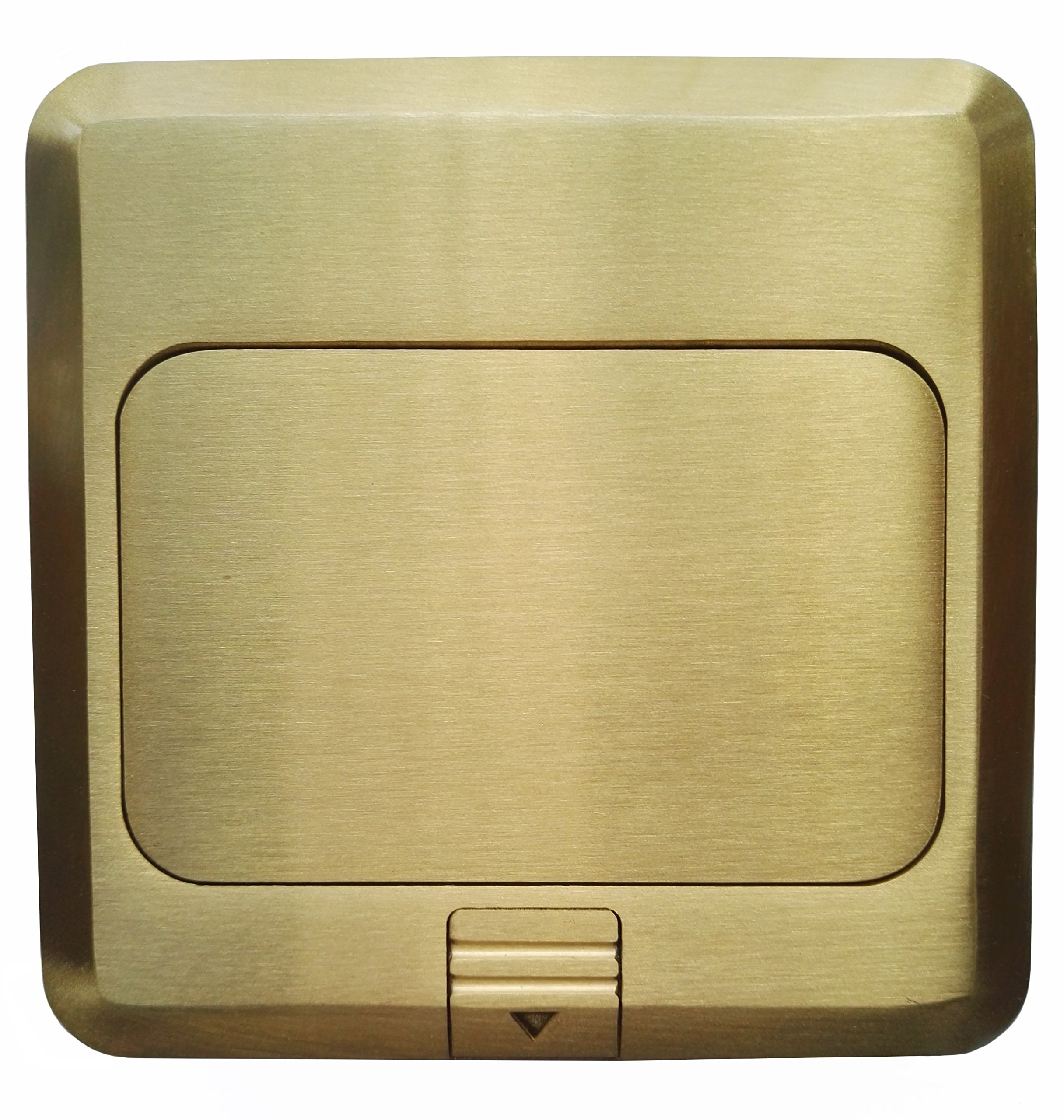 Pop Up Floor Box Countertop Box w/15A with 2 USB Charging Ports Receptacle - Brass
