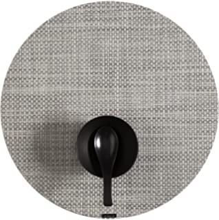 Amazon.com: Chilewich Carbon Round Basketweave Placemat 100111-012 ...