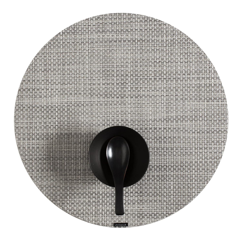 amazoncom chilewich basketweave woven vinyl placemat round home u0026 kitchen