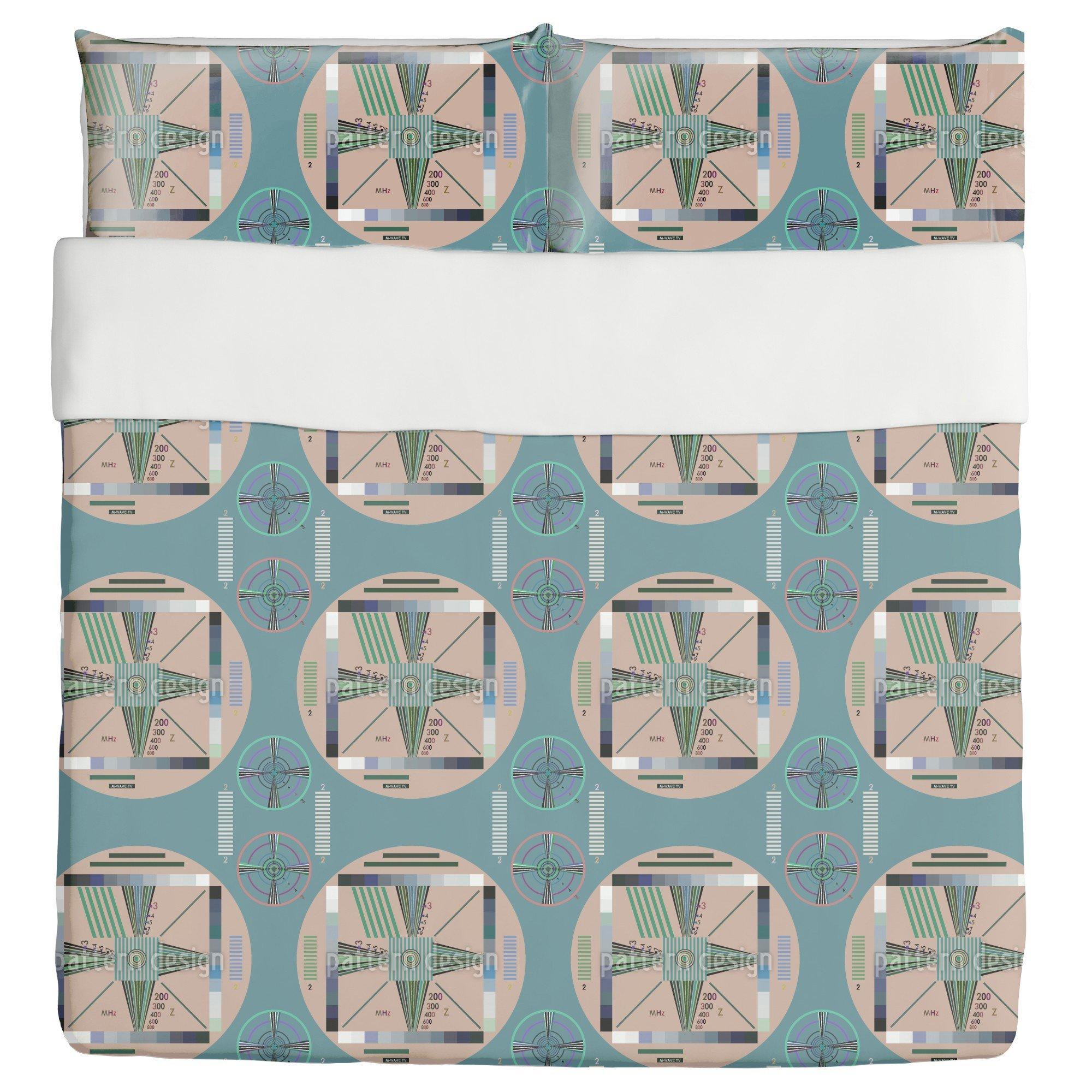 Stay Tuned Duvet Bed Set 3 Piece Set Duvet Cover - 2 Pillow Shams - Luxury Microfiber, Soft, Breathable