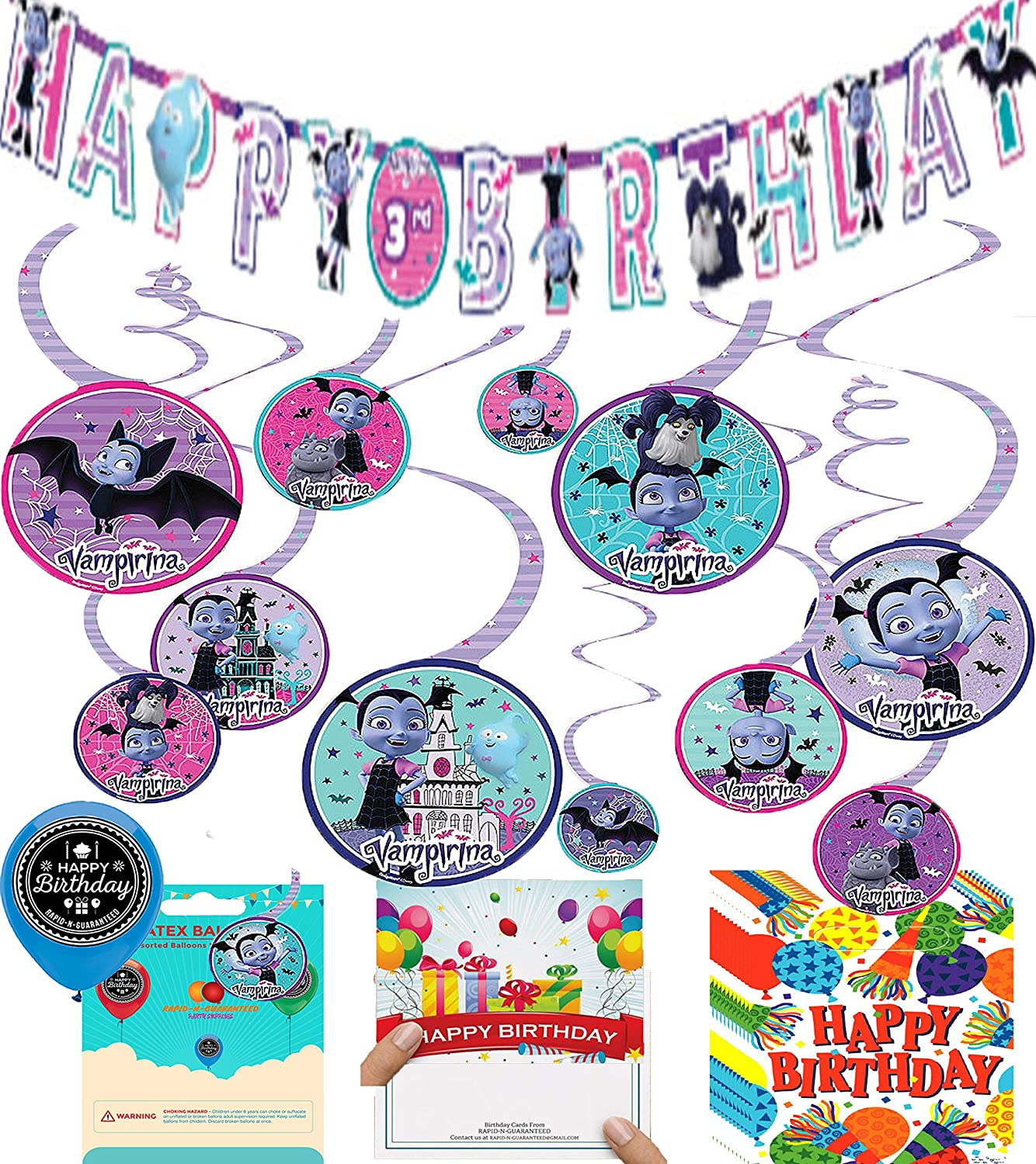 Amazon.com: Vampirina Party Supplies - Globos decorativos ...