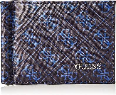 Guess Dan Logo Money Clip Card Case, Accesorio de Viaje-Portatarjetas Tipo sobre para Hombre, Azul, Talla única