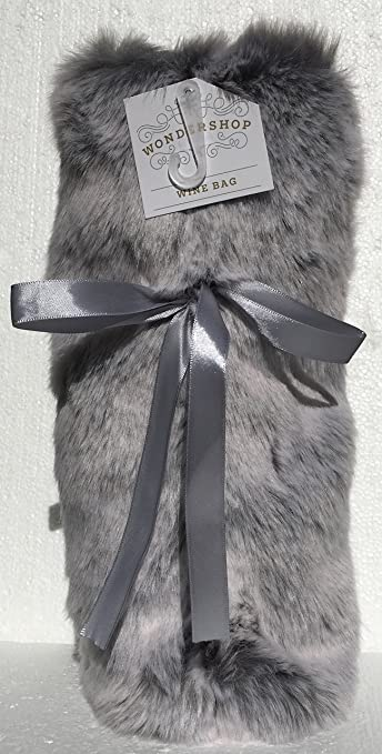 a8d4e56eb8a2 Image Unavailable. Image not available for. Color  Faux Fur Silvery Gray Wine  Bag