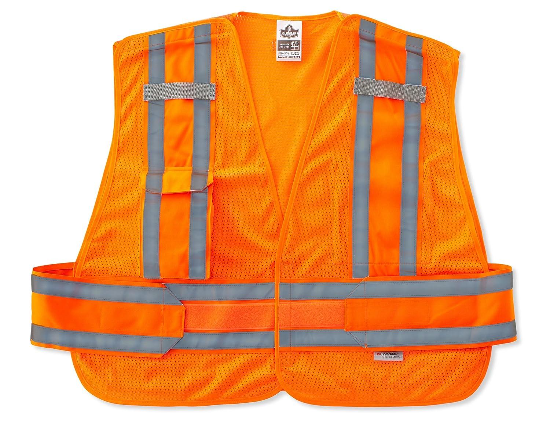 X-Large//2X-Large Ergodyne GloWear 8244PSV ANSI High Visibility Lime Expandable Public Safety Vest