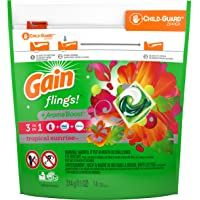Gain flings! Laundry Detergent Liquid Pacs, Tropical Sunrise, 14 Count - Packaging May Vary