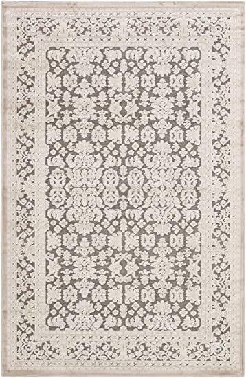 Amazon Com Jaipur Living Regal Oriental Gray Silver Area Rug 5 X 7 6 Furniture Decor