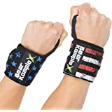 Bear KompleX Wrist Support Band Wraps for at-Home Workouts and Weightlifting, Stabilizer Grip for Right and Left Hand…