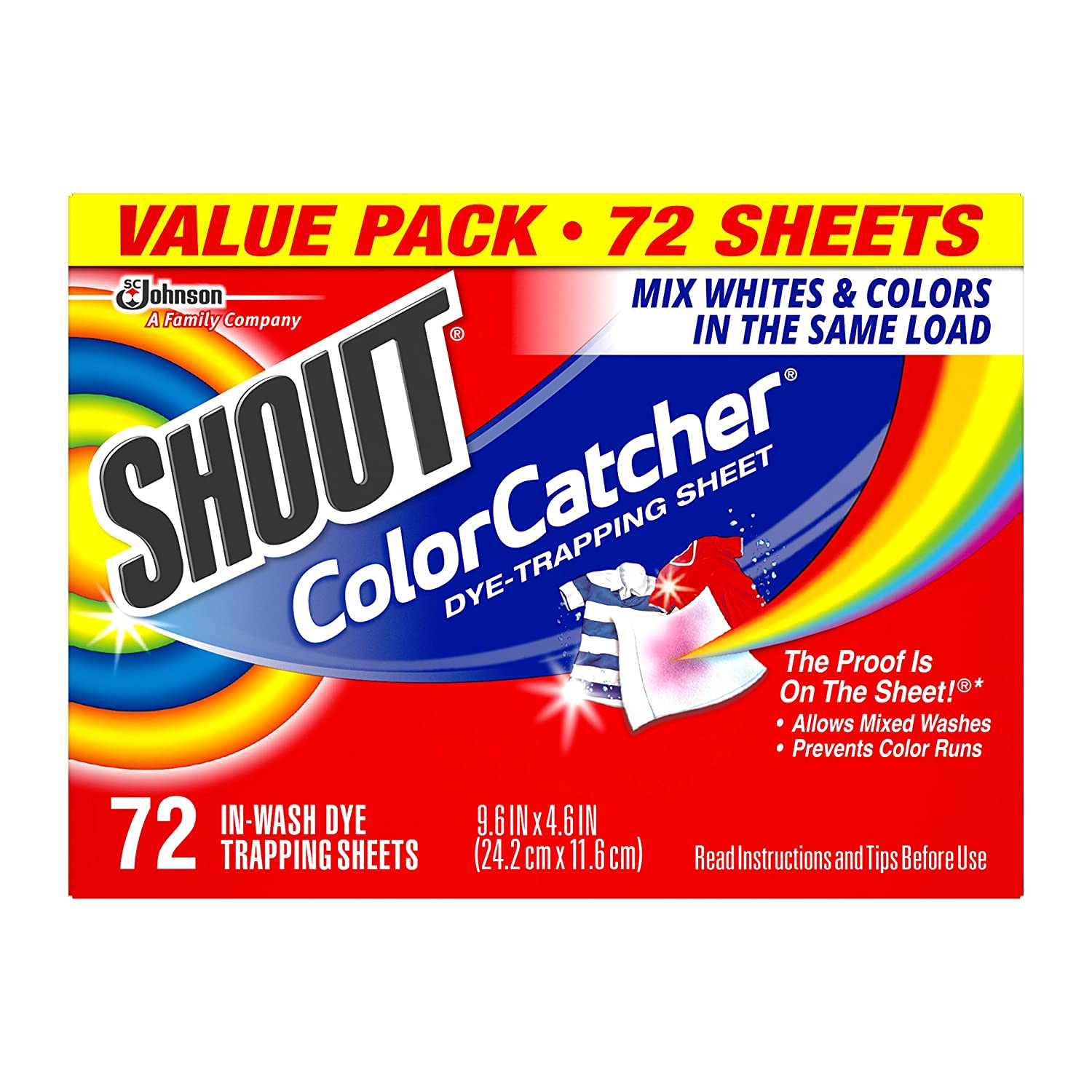 Shout Color Catcher to eliminate the need for sorting laundry
