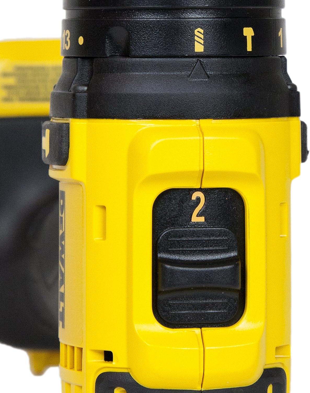 Taladro el/éctrico s Amarillo , I/ón de litio, 18 V, 4 Ah Bater/ía, 1 pieza DeWALT DCD785M1 drill Sin llave Negro