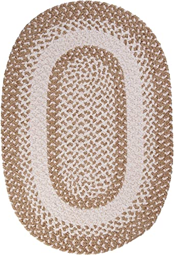 Colonial Mills Blokburst Braided Rug, 5x7, Natural Wonder