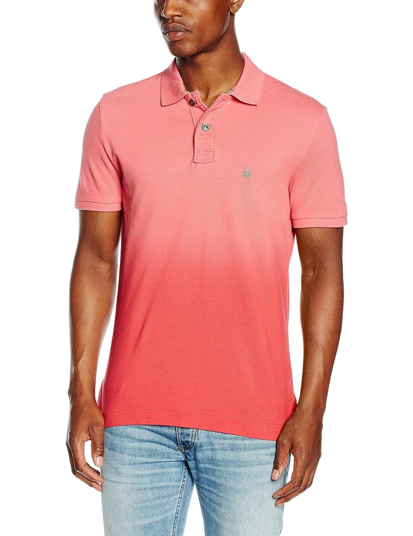 United Colors of Benetton Pique Logo Dip Dye, Polo para Hombre ...