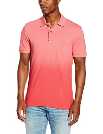 United Colors of Benetton Pique Logo Dip Dye, Polo para Hombre ...