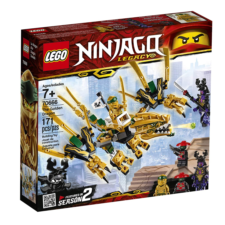 633616da3ce07 Amazon.com: LEGO NINJAGO Legacy Golden Dragon 70666 Building Kit, New 2019  (171 Pieces): Toys & Games