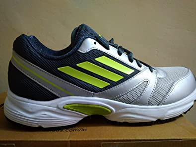 adidas Men's Razor M1 Plus Metallic Silver, Boonix and Electric Green  Running Shoes - 9