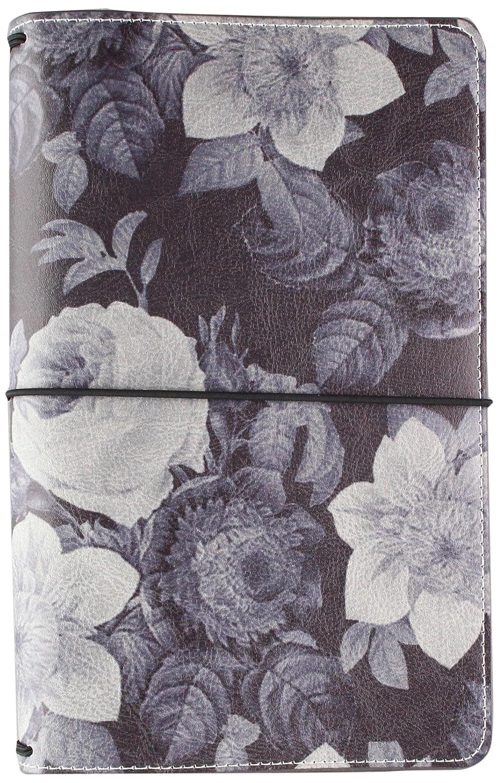 Carpe Diem Beautiful Black Vintage Floral Traveler's Notebook Simple Stories 7944