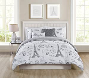 VCNY Home Paris Night Taupe 5Piece Quilt Set, King