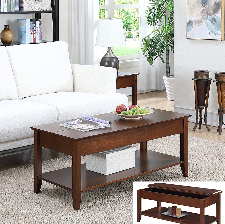Amazon.com: Convenience Concepts 7105082ES - Mesa de café ...