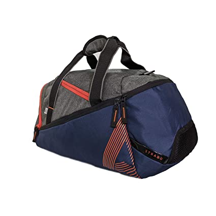 STRABO Navy Blue Ru gby Duffel Travel Bag 30 litres