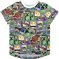 Camiseta de Minecraft Overworld Steve Creeper Camiseta de Manga Corta para niños