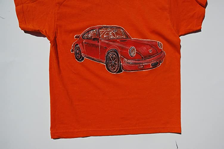 Amazon.com: Kids Clothing, Car Children T Shirt, Classic Porsche 911  Carrera, Baby Kids T Shirt, Original Painting T Shirt, Car Racing Auto  Decor, ...
