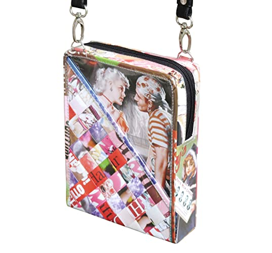 Amazon Com Small Crossbody Using Vintage Magazine Paper Free