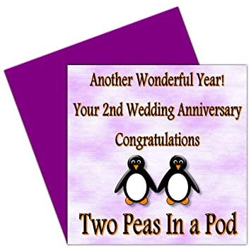 on your 2nd wedding anniversary card 2 years cotton anniversary