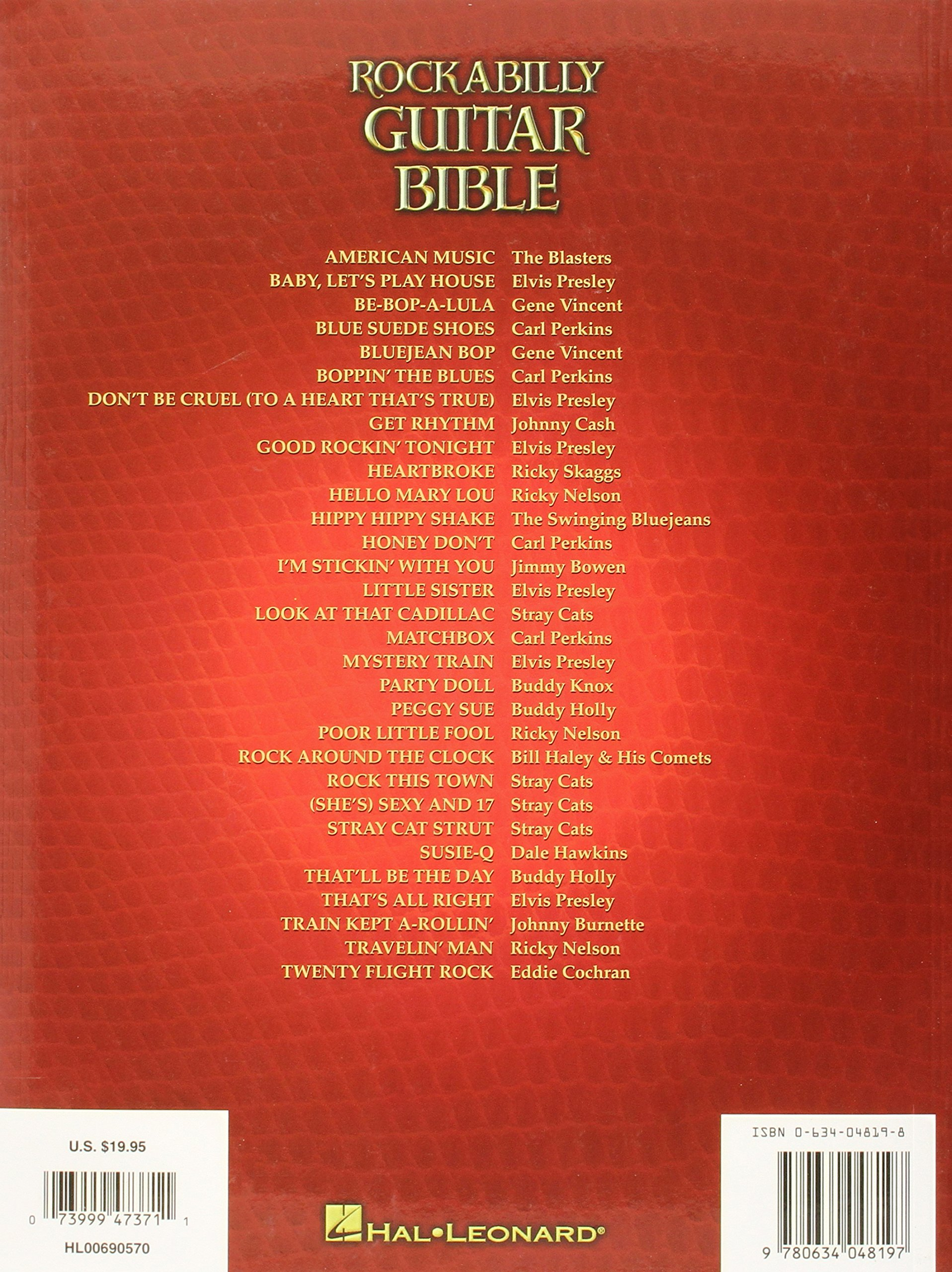 Rockabilly Guitar Bible Guitar Tab Sheet Music Instrumental Album