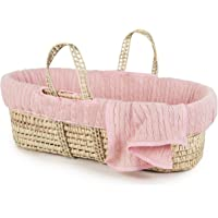 Tadpoles Cable Knit Moses Basket and Bedding Set, Rose