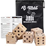 Giant Dice Game Set for Adults, Kids, Families - Outdoor Wooden Dice Games Sets - Fun, Interactive Clean Family Games - Clean