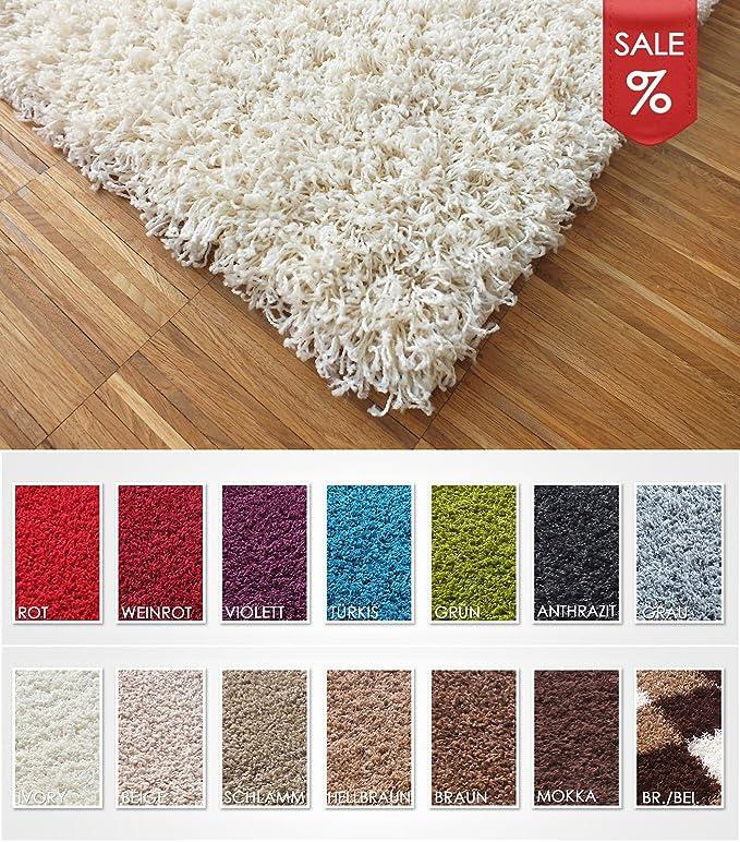 Hervorragend Hochflor Shaggy Teppich   LUNA Ivory: Amazon.de: Küche U0026 Haushalt