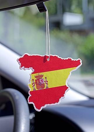 Amazon.es: Air freshener Ambientador auto carro coche bandera de España Bosque
