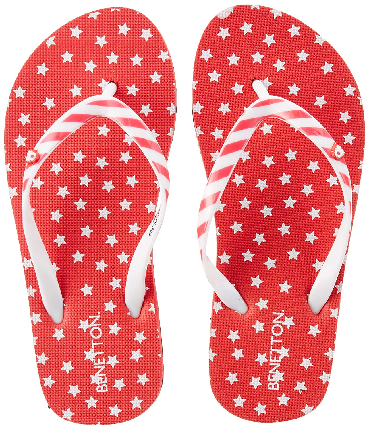 8e80058b96b4d United Colors of Benetton Girl s Flip-Flops  Buy Online at Low Prices in  India - Amazon.in