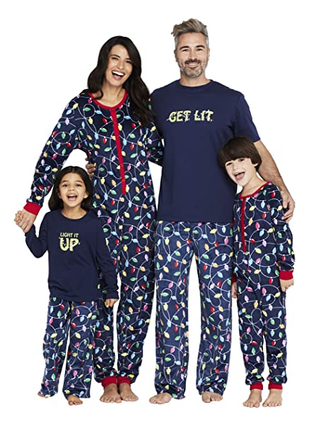 "Karen Neuburger Women's ""Get Lit"" Family Matching Christmas Holiday Pajama Sets PJ"