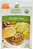 Simply Organic Sloppy Joe, Seasoning Mix, Certified Organic, 1.41-Ounce Packets (Pack of 12)