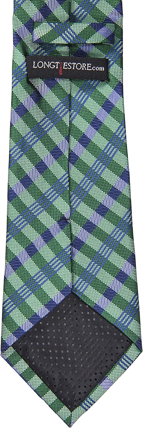 Available in 63 XL and 70 XXL 100/% Silk Extra Long Square Patterned Tie