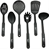 Henry's Home & Kitchen 6-Piece Nylon Kitchen Cooking Utensils Set, Heat Resistant, BPA Free, Non-Stick,
