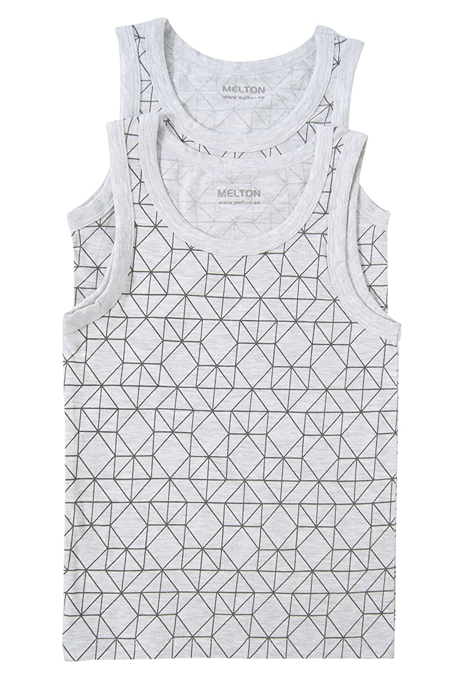 Melton Jungen Unterhemd Numbers, AOP Jungs, 2er Pack, Einfarbig MELTON A/S 800281