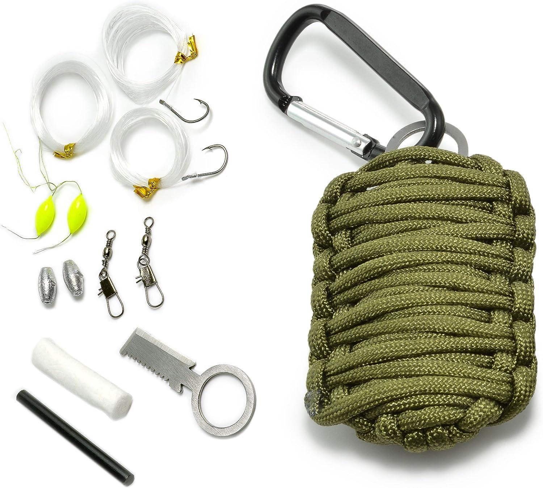 Ganzoo Paracord 550Supervivencia–Kit, 12piezas, como set supervivencia, Exterior Supervivencia Set, marca Ganzoo
