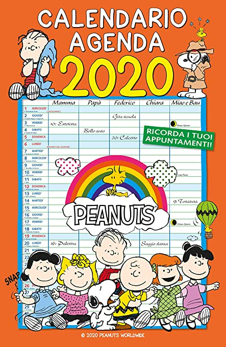 Calendario 2019 de Snoopy [texto en italiano]: Amazon.es ...